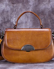 Vintage Leather Handbag Purse Shoulder Bag Crossbody Bag Purse For Women