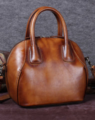 Genuine Leather Handbag Vintage Crossbody Bag Shoulder Bag Purse For Women