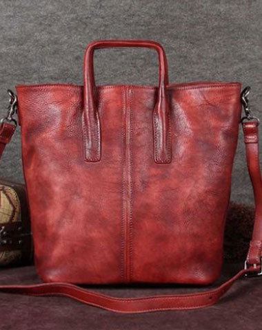Genuine Leather Handbag Vintage Tote Crossbody Bag Shoulder Bag Purse For Women