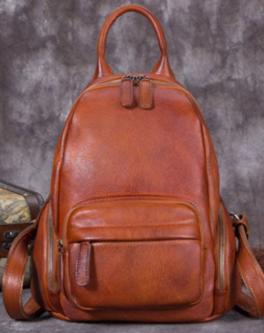 Genuine Handmade Leather Backpack Bag Vintage Shoulder Bag Women Leather Purse