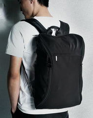 Cool Nylon Cloth Men's Black Large Computer Backpack Travel Bag For Men