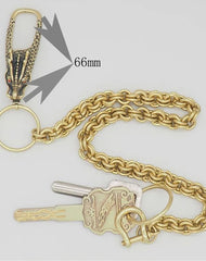 Cool Brass Dragon Punk 19'' Wallet Chain Pants Chain Trucker Jean Chain for Men