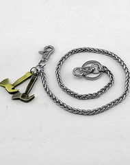 Cool Silver Axe Key Chain Long Wallet Chain BIker Wallet Chain Pants Chain For Men