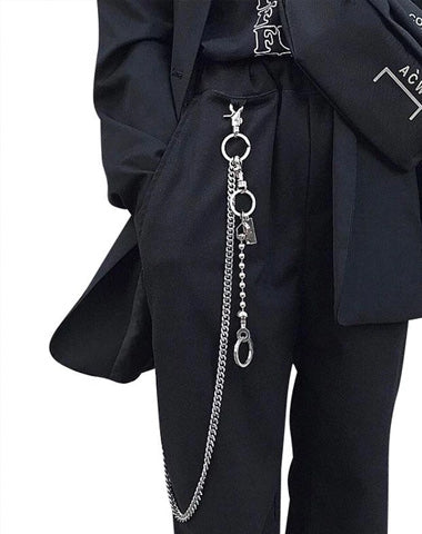 Fashion Men's Women's Self Defense Long Hip Hop Pants Chain Biker Wallet Chain For Men
