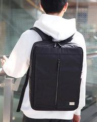 Cool Nylon PVC Men's Casual Black 14'' Travel Backpack Computer Backpack For Men