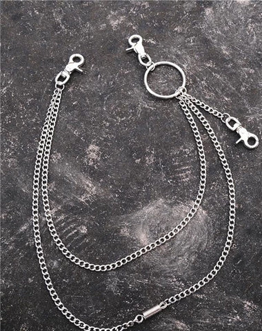Fashion Mens Womens Long Double Layer Pants Chain Wallet Chain For Men
