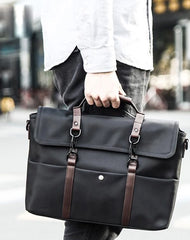Fashion Nylon Cloth Men's Black Business Briefcase Shoulder Bag Computer Handbag For Men
