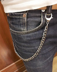 Cool Men's Women's Stainless Steel 18'' Silver Wallet Chain Pants Chain jeans chain jean chain For Men