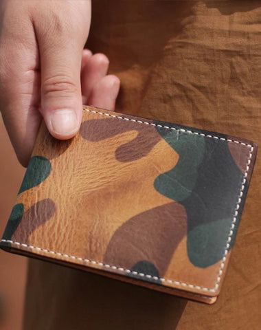 Camouflage Mens Leather Small Driving License Wallet Card Wallet Card Holder License Holder