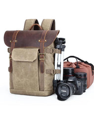 GREEN LARGE CANVAS WATERPROOF MENS CANON CAMERA BACKPACK NIKON CAMERA BAG DSLR CAMERA BAG FOR Women