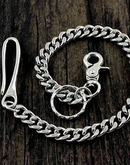 Cool Silver Stainless Steel Mens Biker Wallet Chain Wallet Chain Pants Chain For Men