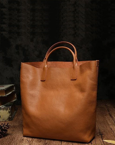 Brown Leather Womens Large Tote Handbag Womens White Tote Bags For Work Purse
