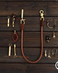Handmade Vintage Leather Mens Wallet Chain Biker Wallet Chain Pants Chain For Men
