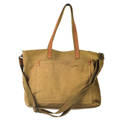 Simple Canvas Mens Womens Tote Shoulder Bags Messenger Handbag Camel Tote Side Bag For Men and Women