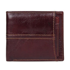 Simple Anti-Theft Leather Men's RFID billfold Wallet Multi-Card Wallet For Men