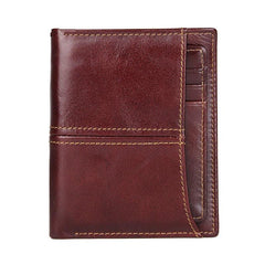 Simple Anti-Theft Leather Men's RFID Short Wallet Multi-Card Wallet For Men