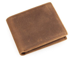 Slim Vintage MENS Leather Bifold Wallet Long and Small Wallet Short Wallet for MEN