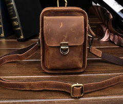 Simple Retro Leather Mens Tablet Messenger Bag Small Side Bag Messenger Bag For Men