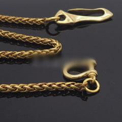 Solid Brass 18'' Wallet Chain Key Chain Gold Wallet Chain Pants Chain For Men