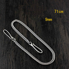SOLID STAINLESS STEEL Mens BIKER WALLET CHAIN LONG PANTS CHAIN JEAN CHAIN FOR Women MEN