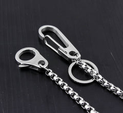 Cool Silver Stainless Steel Wallet Chain Silver Pants Chain Biker Wallet Chain For Men
