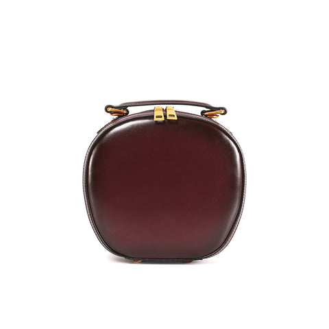 Stylish LEATHER WOMENs Circle Handbag Purse Round SHOULDER Purses for Women