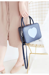 Stylish LEATHER WOMENs Cube Handbags SHOULDER Purse FOR WOMEN