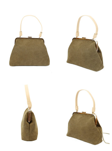 Stylish LEATHER WOMENs Frame Handbags SHOULDER BAGs Purse FOR WOMEN