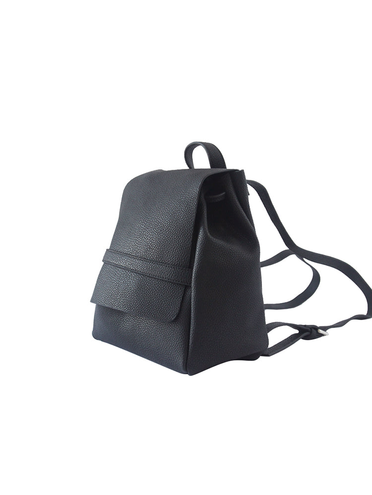 Stylish Leather Black Backpacks Womens Fashion School Backpack Purse