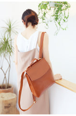 Stylish Leather Womens Backpack Fashion Backpack Purse for Women