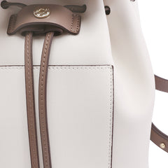Stylish White Leather Backpack Womens Fashion Backpacks Purse