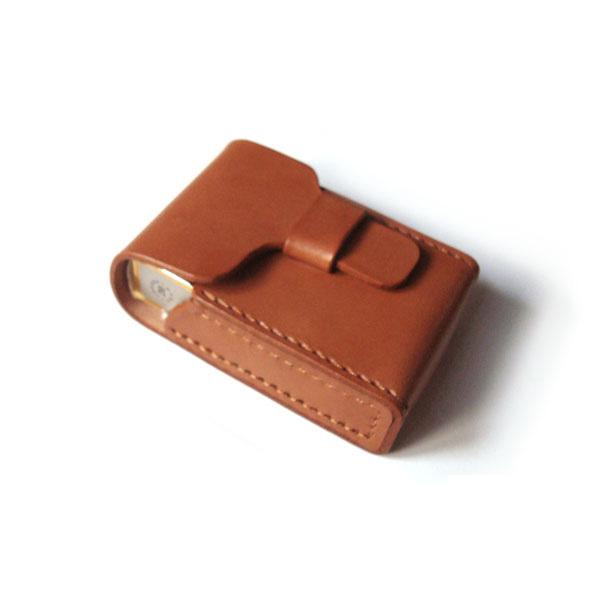 Cool Brown Leather Mens Cigarette Case Cigarette Holder Case for Men