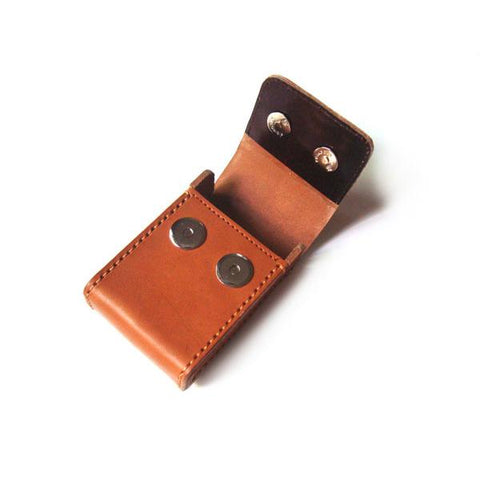 Cool Handmade Brown Leather Mens Cigarette Case with Belt Loop for Men