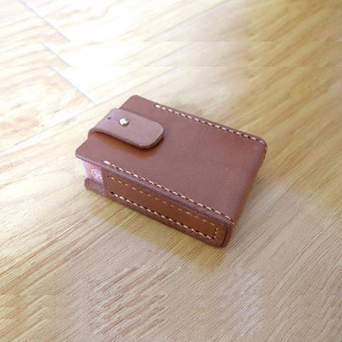 Cool Handmade Brown Leather Mens Cigarette Case for Men