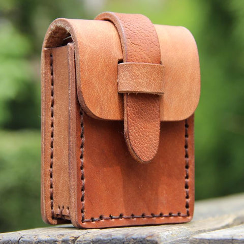 Cool Leather Mens Cigarette Case with Belt Loop Handmade Cigarette Holder for Men