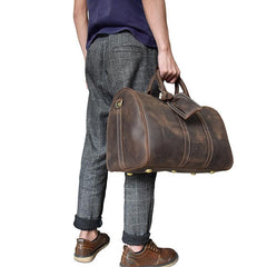 a6d2be79a Cool Leather Mens Weekender Bag Travel Bags Duffle Bags Holdall Bags for men  ...