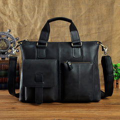 Genuine Vintage Coffee Leather Cool Messenger Bag Briefcase Bag Shoulder Bag For Men