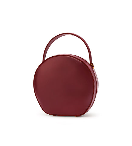LEATHER WOMEN Circle Handbag Purse SHOULDER BAG Purse FOR WOMEN