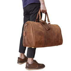 733cb8f5e ... Cool Leather Mens Weekender Bag Travel Bags Duffle Bags Holdall Bags  for men ...
