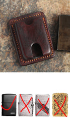 Cool Mens Leather Zippo Lighter Cases Zippo lighter Holders with clip