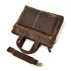 GENUINE LEATHER MENS Vintage Brown COOL MESSENGER BAG BRIEFCASE WORK BAG BUSINESS BAG FOR MEN