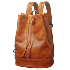 [ On Sale ] Handmade Vintage Womens Leather Backpack School Backpack for Women
