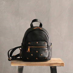 Cute LEATHER Mini WOMEN Backpack Purse Small Backpack FOR WOMEN