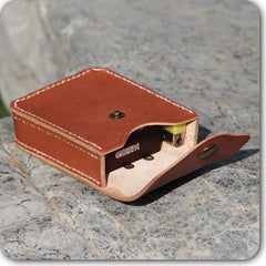 Cool Leather Mens Cigarette Case with Belt Loop Cigarette Holder for Men