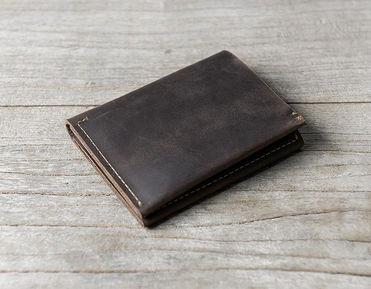 a881749f96c2 Cool Leather Mens Slim Small Leather Wallets Men Short Bifold Wallet for Men