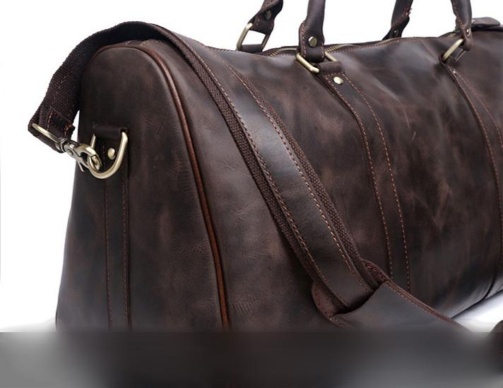f92eacbc240f Leather Mens Weekender Bag Cool Travel Bag Duffle Bags Overnight Bag f