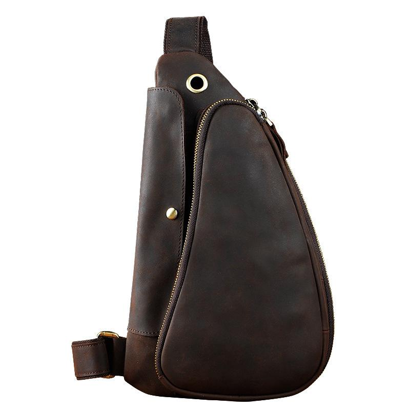 a4509701adba Next.  109.00 109.00. Overview:. Design  Vintage Leather Mens Sling  Shoulder Bag ...