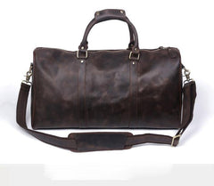 Leather Mens Weekender Bag Cool Travel Bag Duffle Bags Overnight Bag for men