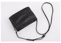 Cute Leather Womens Small Box Crossbody Bag Purse Zipper Shoulder Bag for Women