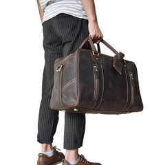 Cool Leather Mens Weekender Bags Travel Bags Duffle Bags Holdall Bags for men